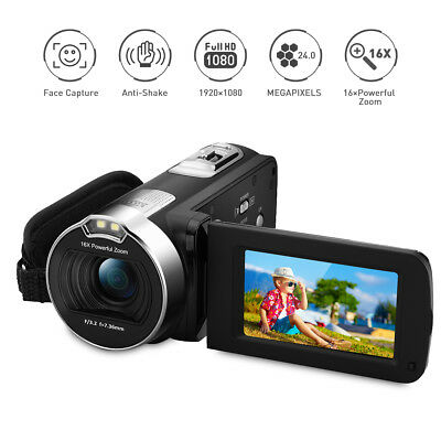 "Digitale Full Hd Videocamera 24Mp 2.7"" Tft Lcd 16X Zoom 1080P Dv Telecamera Eu"