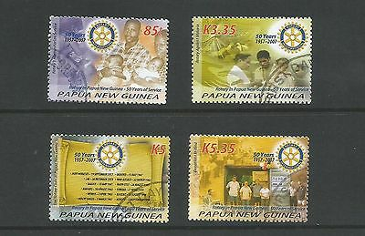Papua New Guinea 2007 50th Anniv. of Rotary Club in PNG set used as per scan