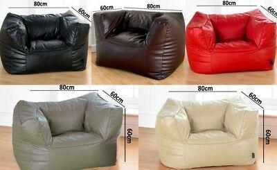 Faux Leather Bean Bag Gaming Chair And FREE Footstool Three Colours Free UK P&P