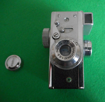 Rare Steky sub-miniature vintage camera with case, lens cap & filter