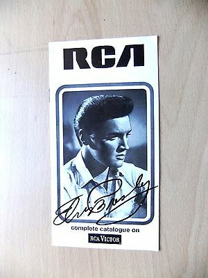 Elvis flyer - complete RCA catalogue to July 1968