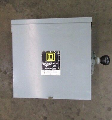 Square D 82342Rb 60A Amp Double Throw Non Fusible Safety Switch Disconnect