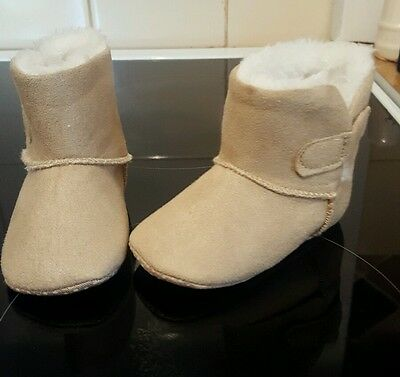 Girls Infant Baby 6-12 months Faux Fur Lined Winter Boots