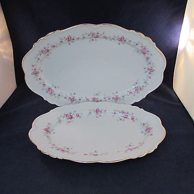 SET OF TWO - Edelstein China FLORENCE Serving Platters