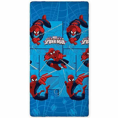 Marvel Spider-Man Single Fitted Sheet New 100% Cotton Bedding