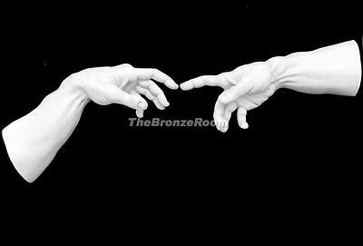 Creation Of Man Hands Inspired By Michelangelo - Marble Wall Sculpture