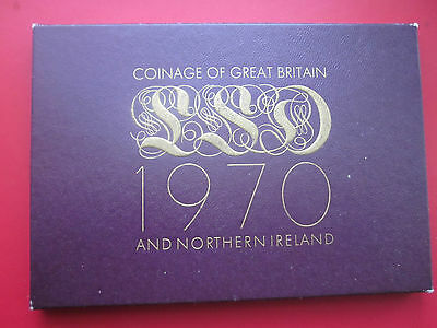 1970 Proof Set Of Coins Great Britain & Northern Ireland Excellent