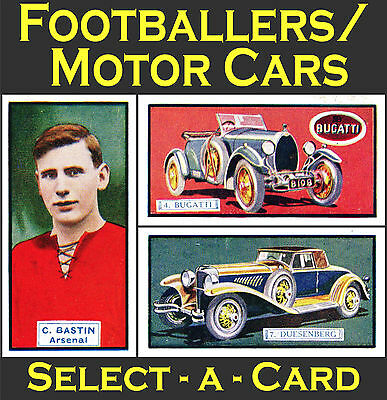 Thomson 1930 FOOTBALLERS/MOTOR CARS (Double-Sided) - Select-A-Card