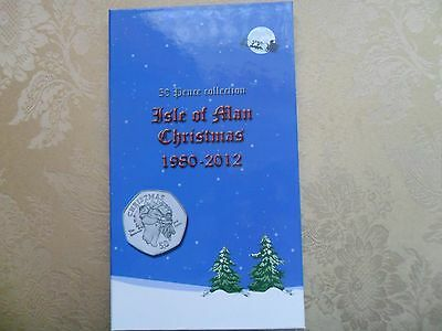Isle of Man Christmas 50p Fifty Pence Album Folder For your coins
