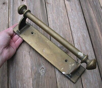 Antique Large Brass Door Handle Pull / Shop / Pub / Restaurant / Towel Rail