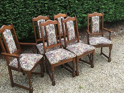 Superb Set Of 6 Old Charm Dining Chairs Fabulous Condition - Delivery Available