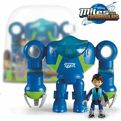 New Miles From Tomorrow Exo-Flex Suit & Miles Action Figure Disney Official