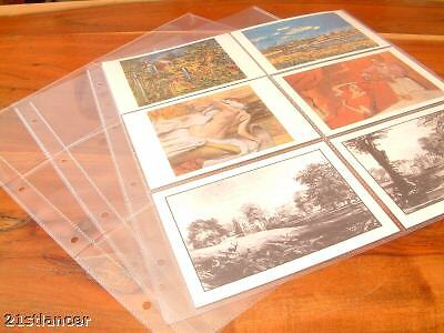10 X 6 POCKET POSTCARD ALBUM REFILLS ARCHIVE STORAGE SLEEVES 4x6 PHOTO EPHEMERA