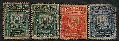 1885 Republica Dominicana Set Of 4 Used Stamps