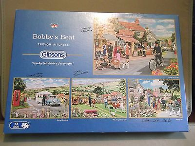 "Jigsaw Puzzle - 4 x 500 Piece - Gibsons - ""Bobby's Beat"" - Complete"