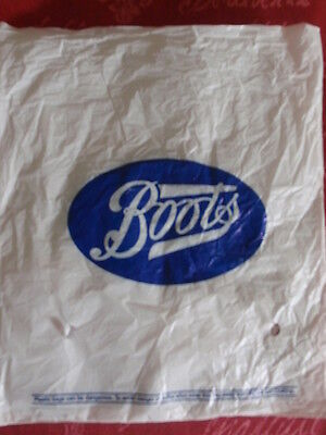 Vintage/ Collectable -  'Boots'  Small Plastic Bag