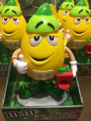 M&M's World Yellow Character Holiday Candy Dispenser New