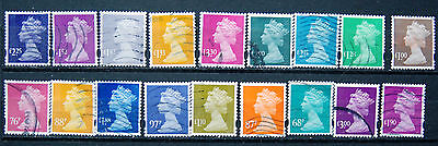 Collection Of Different Good Used GB High Value Security Machin Definitives.