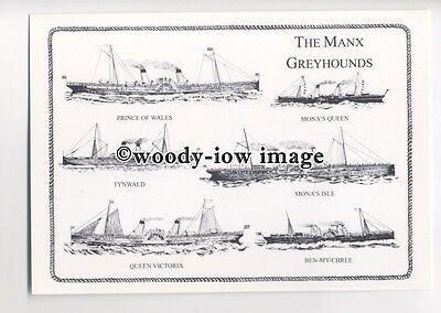 FE0677 - Isle of Man Ferries - The Manx Greyhounds - postcard
