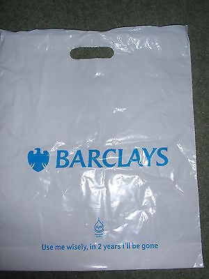 Collectable -  Barclays  -  Plastic Carrier/Shopping Bag