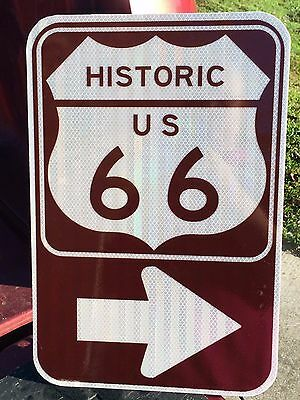 """Route 66 Road Sign - 18""""x12"""" - UNUSED DOT specs - traffic route highway"""