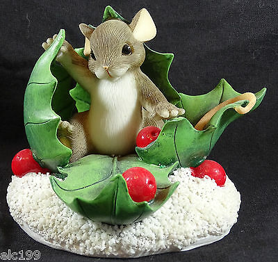 Charming Tails Happy Holly Days  Figurine