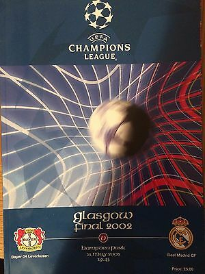 REAL MADRID v BAYER LEVERKUSEN 15.5.2002 CHAMPIONS LEAGUE FINAL