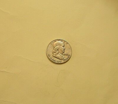 1954D Ben Franklin Half Dollar Coin, Gently Circulated, NICE!!