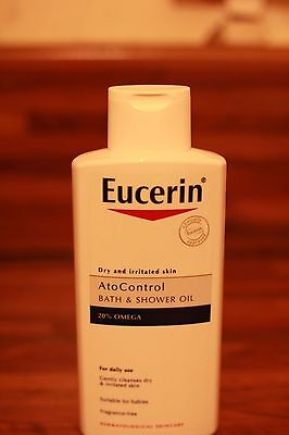 Eucerin bath and shower auto control with 20% omega oil, 400ml, new