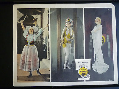 1923 Jazzmania - Sexy Mae Murray In 3 Poses - Vg+ To Exc- Cond Silent Lobby Card