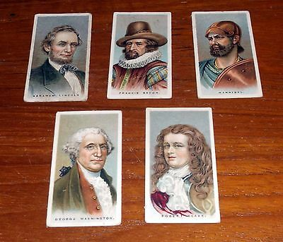 5 Players Cigarette Cards Leaders Of Men