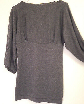 GAP Women's Maternity Sweater GRAY - Dolman Sleeves-Fitted Tummy Size S