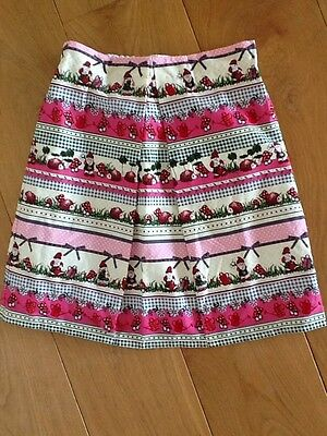 Toadstool and Gnome girls skirt hand made little girls 12-14 yrs old - size s