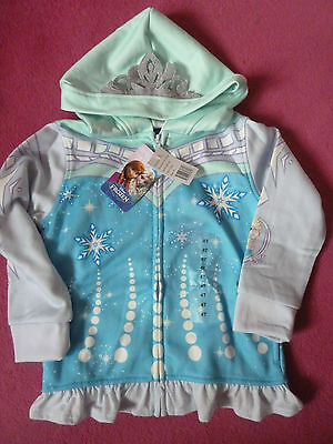 Girls turquoise/green hooded jacket  FROZEN theme Size Age 5