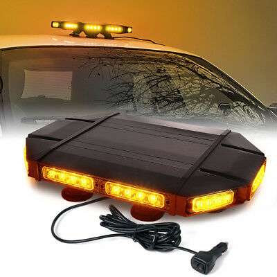 "Black Hawk 18"" Professional Amber LED Law Enforcement Roof Top Strobe Light Bar"