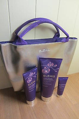 Elemis 4 Piece Gift Set~ Sweet Orchid Shower, Body, Hand Cream & Tote Bag