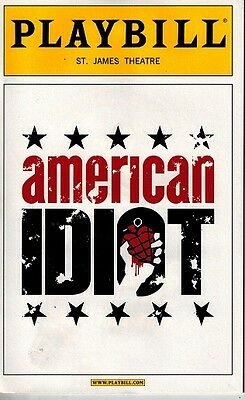 Americal Idiot Broadwy Opening Night Playbill -Billie Joe Armstrong