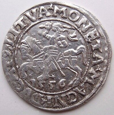 Medieval Hammered Silver Coin 1556 AD from Baltic Sea Treasure Extra Rare!