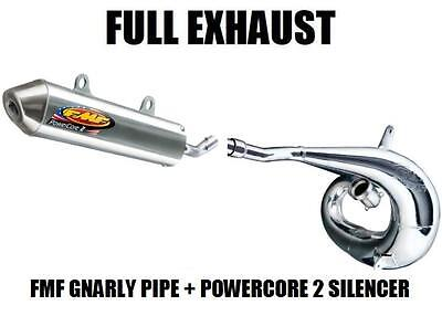 Fmf Gnarly Full Pipe Exhaust And Powercore 2 Silencer 00 01 Honda Cr250R Cr250