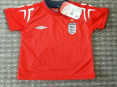 BNWT Baby England Red Football Shirt Age 6-12 Months Size 80