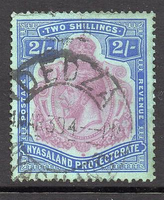 Nyasaland PROTECTORATE  SG 109 2/- Purple and Blue on Blue  No Hidden Faults ***