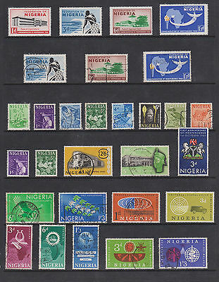 Collection Of Nigeria Qe11 Stamps, M/m ,used  See Scan
