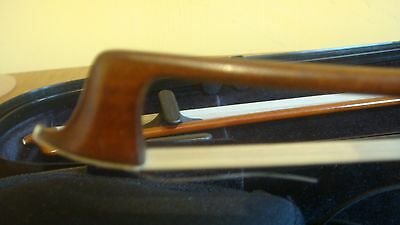 Silver-Mounted German VIOLIN BOW Stamped: HUMEL 56g