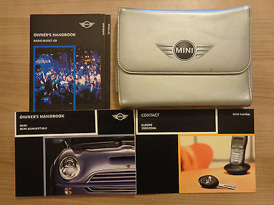 Mini Owners Handbook/Manual For Mini and Convertible Covers Hard and Soft Top