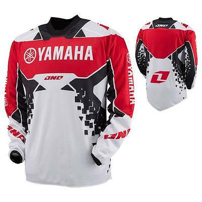 New One Industries Yamaha  Atom Red Jersey Mx Atv Bmx  Large  L
