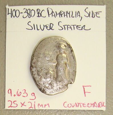 400-380 BC Pamphylia, Side Ancient Greek Athena/Apollo Silver Stater F