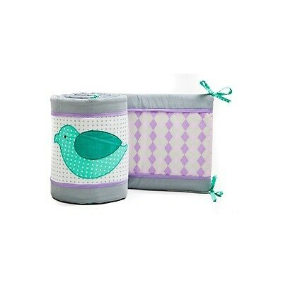 Pam Grace Creations 4 Piece Lovebirds Crib Bumpers Cotton Polyester Green Purple