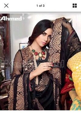 Maria B Designer Embroiderey Kameez With Printed Shalwar And Embroiderey Dupatta