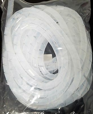 "Computer Spiral Wire Wrap Size 15/16"" - Clear- 10 Meters Swb-15"