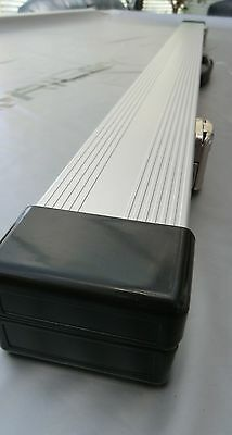 1 one piece aluminium pool snooker cue case holds two cues